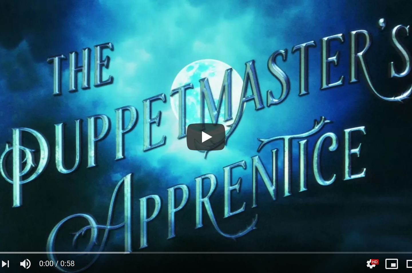 The book trailer for The Puppetmaster's Apprentice is here!